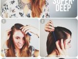 Diy Hairstyles and Makeup Heavy Side Part Hair Pinterest