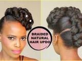 Diy Hairstyles Natural Hair Faux French Braid Updo [natural Hair Tutorial]