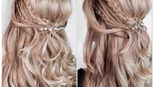 Down Hairstyles for Confirmation Double Pleat Half Up Прически