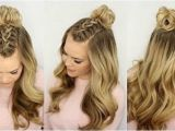 Down Hairstyles for Grad Half Up and Half Down Hairstyles for Prom Mohawk Braid top Knot