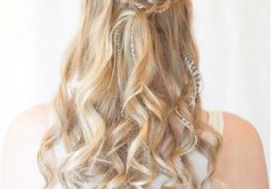 Down Hairstyles for Grad Prom Hairstyles with Brids for Long Curly Hair Half Up Half Down In