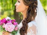 Down Hairstyles for Wedding with Veil 185 Best Veils Images