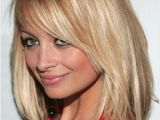 Down Hairstyles with Bangs Mid Length Blonde Highlights Bl0ndes Pinterest