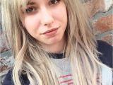 Down Hairstyles with Fringe Fringe Blonde Longhair Vans Bangs Hair Pinterest