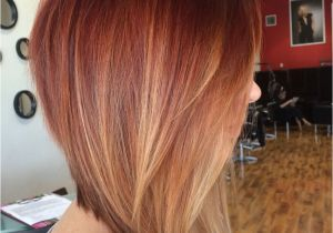 Dramatic Bob Haircut Dramatic Inverted Bob with Red Ombre Gorg