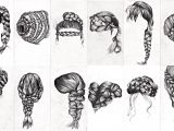 Drawing Hairstyles Braid Braids Drawing Pinterest
