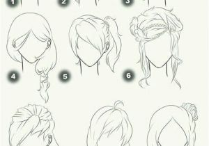 Drawing Manga Hairstyles I Like 4 7 and 8 Anime Animation Pics Pinterest