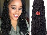 "Dreadlocks Curly Hairstyles 3 Packs 20"" Faux Locs Hair Extensions Goddess Crochet Dreadlocks for"
