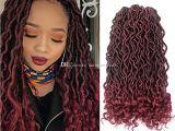 Dreadlocks Curly Hairstyles Großhandel Faux Locs Curly Crochet Hair 24strands Pack