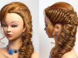 Easy 1940s Hairstyles for Curly Hair Braided Hairstyle for Party Everyday Medium Long Hair Tutorial