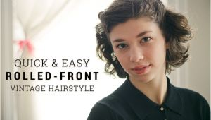 Easy 1940s Hairstyles for Short Hair the Hair Parlor Quick & Easy Vintage Hairstyle the