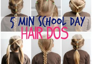 Easy 5 Minute Hairstyles for Long Hair 5 Minute School Day Hair Styles Fynes Designs