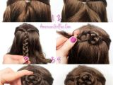 Easy American Girl Doll Hairstyles Step by Step American Girl Doll Hairstyle Half Up Braided Bun