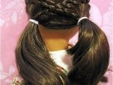 Easy American Girl Doll Hairstyles Step by Step Cross Over Pigtails Doll Hairdo Pinterest