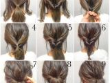 Easy and Cute Hairstyles for Work Frisuren top Bun Hairstyles Hair Pinterest