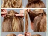 Easy and Cute Hairstyles Step by Step Simple Diy Braided Bun & Puff Hairstyles Pictorial