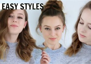 Easy and Fast Hairstyles for Medium Length Hair 3 Easy Hairstyles for Medium Length Hair