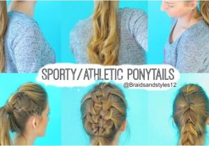 Easy athletic Hairstyles Sporty Hairstyles for School
