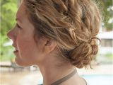 Easy Braided Hairstyles for Curly Hair 1 Minute Hairstyle Braided Bun In Curly Hair New Video