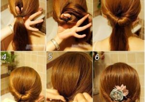 Easy Bridal Hairstyles Step by Step Coiffure Simple Cheveux Long Tresse Et Chignon En 26 Idées