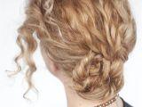 Easy Bun Hairstyles for Curly Hair Easy Curly Braided Bun Tutorial Hair Romance