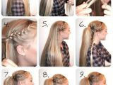 Easy Cheer Hairstyles Braided High Ponytail Tutorial Hair Pinterest