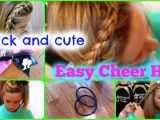 Easy Cheer Hairstyles Quick and Easy Cheer Practice Hairstyles