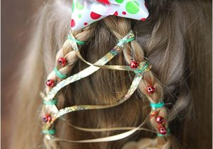 Easy Christmas Party Hairstyles Christmas Tree Braid Cute Girls Hairstyle