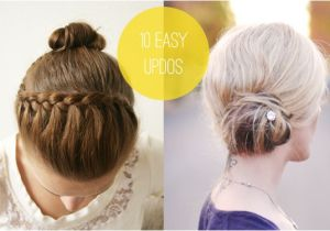 Easy Do It Yourself Updo Hairstyles Easy Do It Yourself Updos for Long Hair