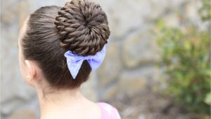 Easy Gymnastic Hairstyles Rope Twist Pinwheel Bun Prom Hairstyles