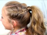 Easy Gymnastics Hairstyles Double Frenchbacks Into High Pony