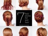 Easy Hairstyles Done with Wet Hair Get Ready Fast with 7 Easy Hairstyle Tutorials for Wet