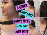 Easy Hairstyles for Bad Hair Days 5 Quick and Easy Heatless Hairstyles for Bad Hair Days