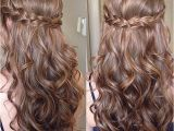Easy Hairstyles for Curly Hair Down Sweet Sixteen Prom Hair Hairstyles