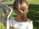 Easy Hairstyles for Kids with Medium Hair Cute Twistback Flip Under Girls Hairstyles