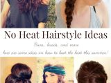 Easy Hairstyles for Long Hair without Heat Cute Hairstyles No Heat Hairstyles by Unixcode