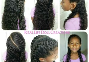 Easy Hairstyles for Mixed Girls Hair Real Life Doll Creations Hair for Little Girls Little