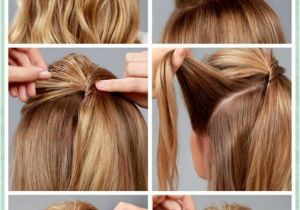 Easy Hairstyles for School Girls Step by Step Simple Diy Braided Bun & Puff Hairstyles Pictorial