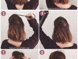 Easy Hairstyles for Short Hair Down Short Hair Half Up In 8 Easy Steps Using This Tutorial Via