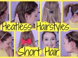 Easy Hairstyles for Short Hair Heatless Girls Easy Hairstyles for School Elegant Beautiful Cute Quick and