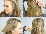Easy Hairstyles for Short Hair In Summer Cute and Easy Hairstyle Tutorials 45 Hairhairhair
