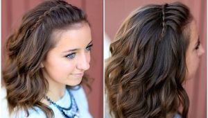 Easy Hairstyles for Short Hair to Do at Home Video Download Diy Faux Waterfall Headband