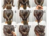 Easy Hairstyles for Short Hair Up top 10 Messy Updo Tutorials for Different Hair Lengths