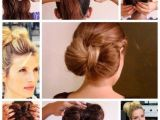 Easy Hairstyles for Short Hair Videos Super Easy Bow Bun Haristyle Just 5 Steps Instructions