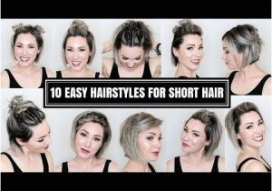 Easy Hairstyles for Short Thin Hair Video 10 Easy Hairstyles for Short Hair