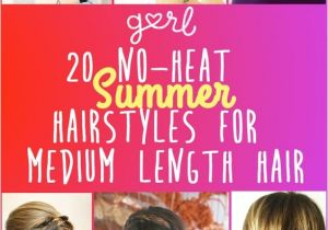 Easy Hairstyles for Shoulder Length Hair without Heat Cute Hairstyles for Medium Length Hair No Heat