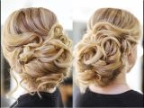 Easy Hairstyles On Youtube Easy Wedding Updo with Curls Prom Hairstyles Hair Tutorial