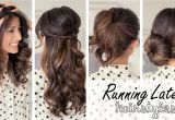 Easy Hairstyles On Youtube Running Late Hairstyles