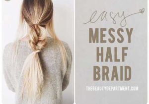 Easy Hairstyles Pony Splendid Best 5 Minute Hairstyles – Messy Half Braids and Ponytail