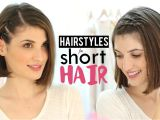 Easy Hairstyles to Do at Home Step by Step for Short Hair Hairstyles for Short Hair Tutorial